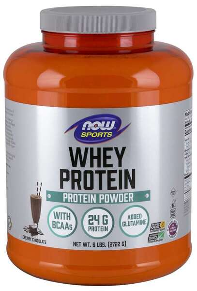 NOW SPORTS - WHEY PROTEIN - 6 LB - CHOCOLATE Код на продукт: NF2182
