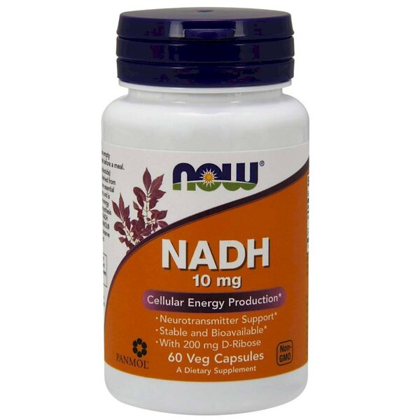 NOW - NADH 10 МГ + 200 МГ RIBOSE - 60 КАПСУЛИ Код на продукт: NF3103