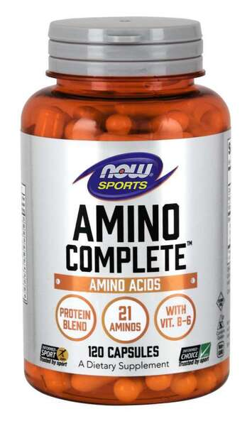 NOW SPORTS - AMINO COMPLETE 850 МГ - 120 КАПСУЛИ Код на продукт: NF0011