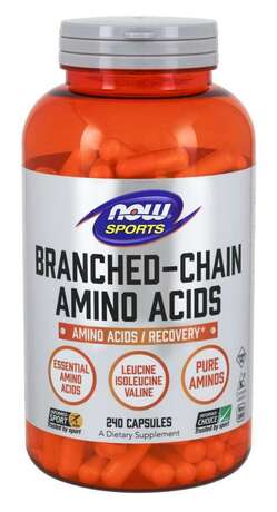 NOW SPORTS - BRANCHED CHAIN AMINO ACIDS 800 МГ - 240 КАПСУЛИ Код на продукт: NF0054