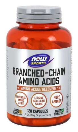 NOW SPORTS - BRANCHED CHAIN AMINO ACIDS 800 МГ - 120 КАПСУЛИ Код на продукт: NF0053