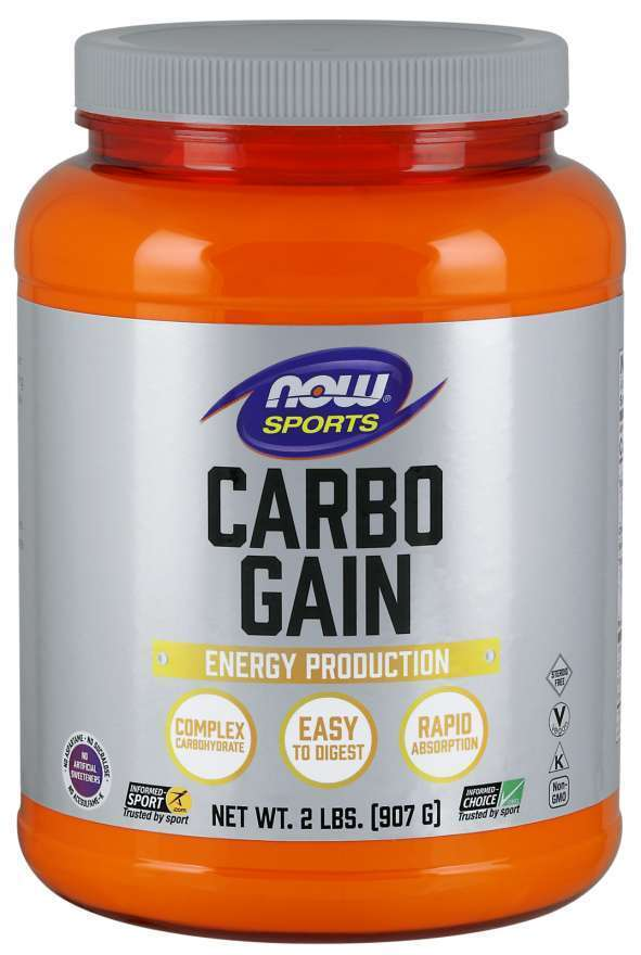 NOW SPORTS - CARBO GAIN - COMPLEX CARBOHYDRATE - 908 Г Код на продукт: NF2020