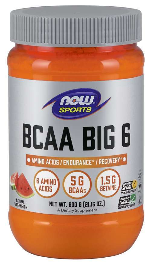 NOW SPORTS - BCAA BIG 6 - 600 Г - WATERMELON Код на продукт: NF0212